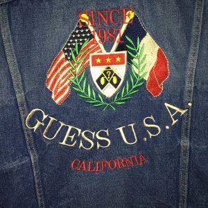 EMBROIDERED GUESS Denim Jacket